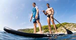 Freedive Yachting cruising with SUP