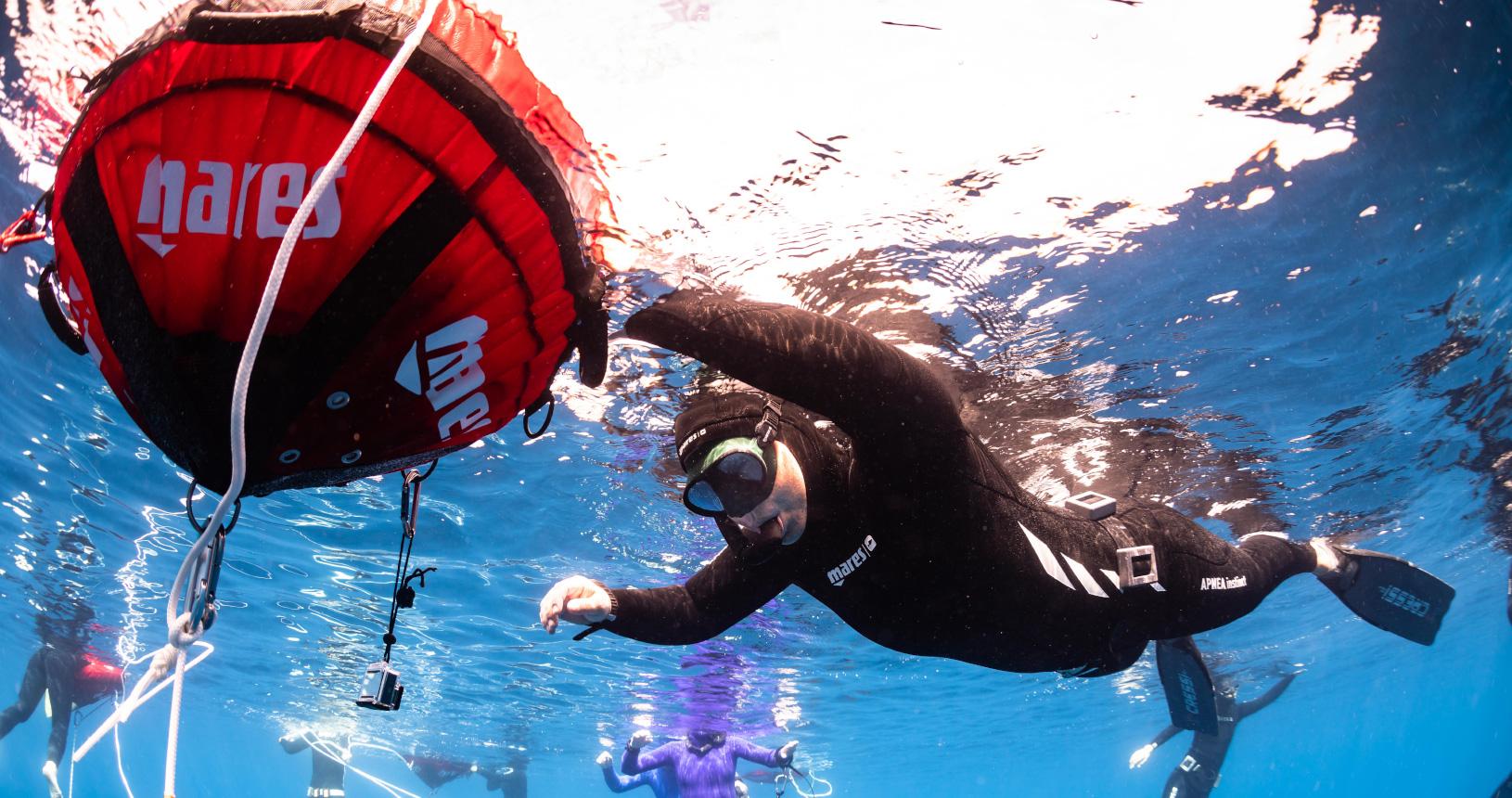 Freediving near Korčula Island