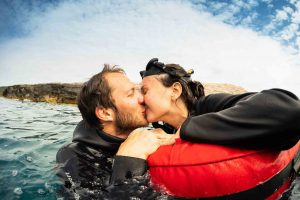 Couples freediving